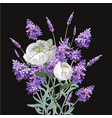 bouquet of lavender and peony template on vector image vector image
