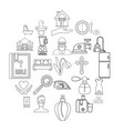 bridal icons set outline style vector image vector image