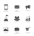 Business marketing icons vector image vector image