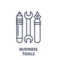 business tools line icon concept business tools vector image vector image