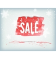 christmas inky banner vector image vector image