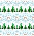 christmas tree and deer seamless pattern fashion vector image