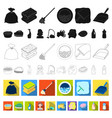 cleaning and maid flat icons in set collection for vector image