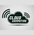 cloud grass green vector image