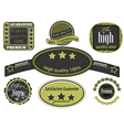 Collection high quality label vintage style vector image