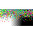 colorful horizontal seamless confetti pattern vector image vector image