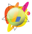colorful round icon for google adsense on white vector image vector image