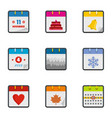 compilation icons set flat style vector image vector image