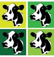 cow head vector image vector image