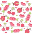 cute pink seamless pattern vector image vector image