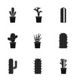 desert cactus icon set simple style vector image vector image
