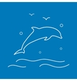 Dolphin Line Icon vector image vector image