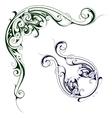 Elegant floral swirls vector image vector image