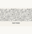 fast food banner concept vector image vector image