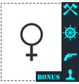 female icon flat vector image vector image