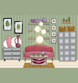 flat style of living room interior vector image vector image