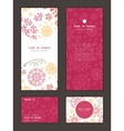 folk floral circles abstract vertical frame vector image