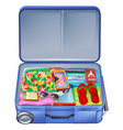 full holiday vacation suitcase vector image