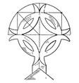 gable of church crossl free ornaments vintage vector image vector image