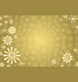 golden winter background vector image vector image