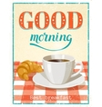 Good Morning Poster vector image vector image