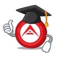 graduation ark coin character cartoon vector image vector image