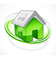 green house with open roof vector image vector image