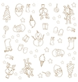 Hand draw christmas doodle element vector image