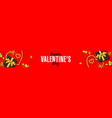 happy valentines day greeting banner header vector image vector image