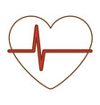 heart with pulse icon vector image