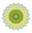 indian ornament circular rosette color green vector image vector image