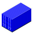 industrial cargo container icon isometric style vector image vector image