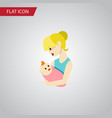 isolated newborn baby flat icon parent vector image vector image
