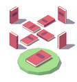 isometric classic book vector image vector image