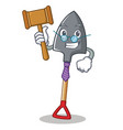 judge shovel character cartoon style vector image vector image