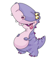 kid dinosaur vector image vector image