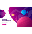 landing page template on topic space vector image vector image