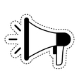 megaphone device isolated icon vector image vector image