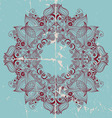 ornamental round lace card vector image vector image