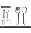 place setting line icon vector image vector image