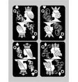 poker cards queen set vector image