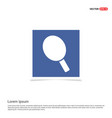 racket icon - blue photo frame vector image