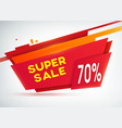 red sale shopping poster vector image