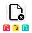 remove file icon vector image vector image
