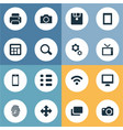 set of simple gadget icons vector image