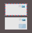 set paper envelopes postal envelope vector image vector image
