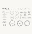 set sign and elements for food and drink vector image vector image