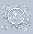 snowflakes christmas card vector image vector image