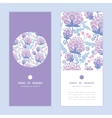 soft purple flowers vertical round frame vector image vector image
