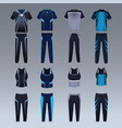 sport wear collection vector image vector image